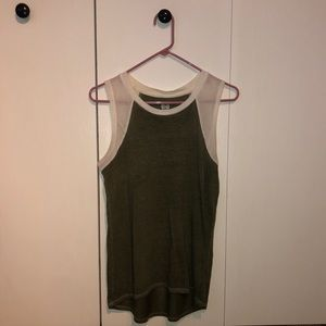White and green tank top